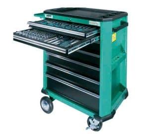 carro de herramientas verde