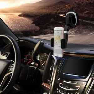 soporte de móvil para coche en el cristal