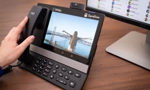 teléfono VoIP con gran pantalla