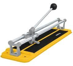 cortador de azulejos amarillo