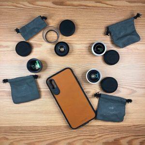 varios objetivos para móvil en la mesa