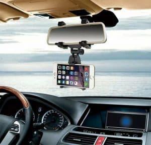 soporte de móvil para coche en el retrovisor