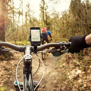 soporte de móvil para bici en marcha