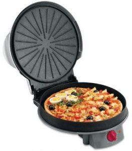 pizza en un grill electrico