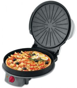 horno para pizza negro