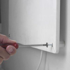 instalar un radiador eléctrico de pared