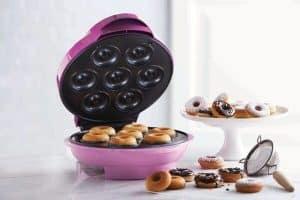 máquina de donuts rosa