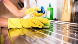 limpiar un fregadero