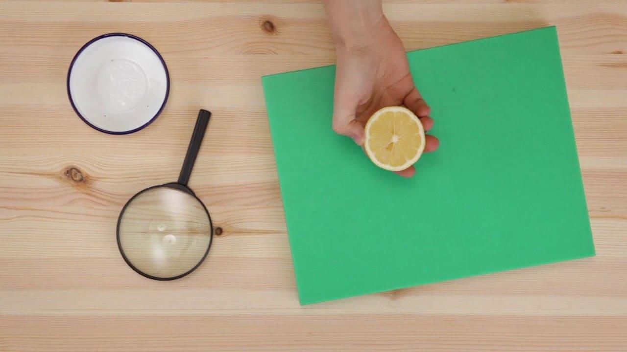limpiar tabla de cortar con limón