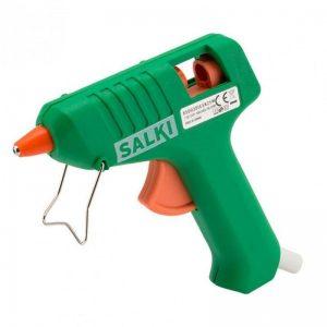 pistola de silicona verde