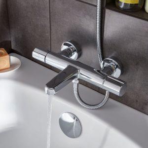 grifo termostático para la bañera