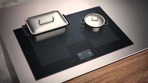 placa de cocción con ollas