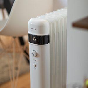 temperatura de un radiador de aceite