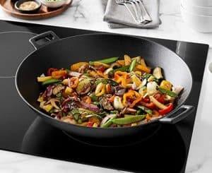 wok en vitrocerámica