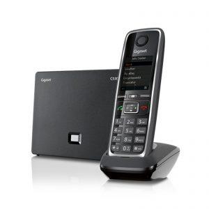 teléfono fijo con base