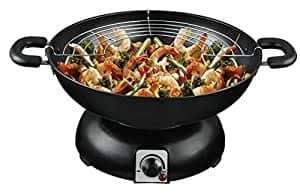 wok eléctrico con parrilla