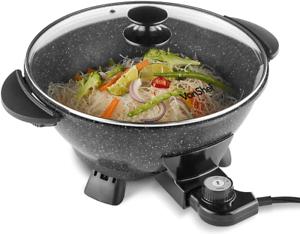 wok eléctrico con tapa