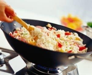 wok con arroz
