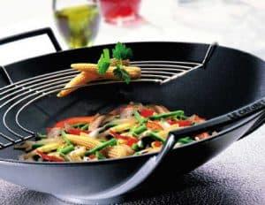 wok con parrilla