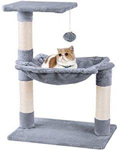 cama para gato con rascador