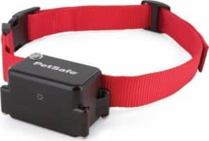collier anti-fuite pour chien rouge