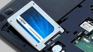 disco duro SSD en portátil
