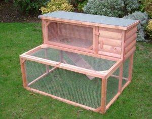 jaula para conejo amplia