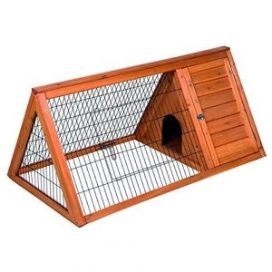 jaula para conejo triangular