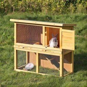 jaula para conejo doble