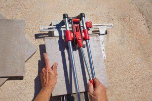 cortador de azulejos desde arriba