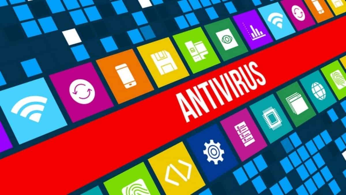 pantalla con la palabra antivirus