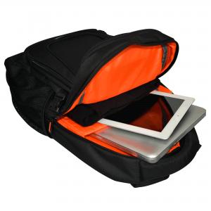 mochila para portátil abierta