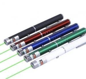 punteros láser de varios colores