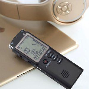 grabadora de voz con gran pantalla
