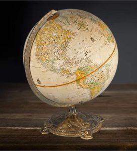 globo terráqueo antiguo