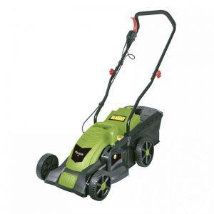 cortacésped eléctrico verde