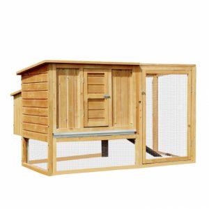 gallinero de madera
