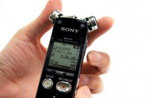 grabadora de voz con pantalla grande