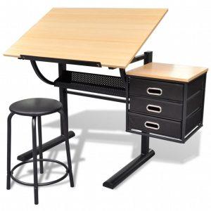 mesa de dibujo y taburete