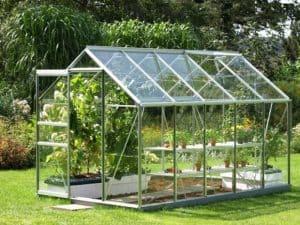 invernadero de jardín transparente