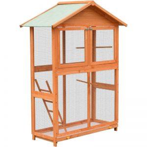 jaula para pájaros de madera grande