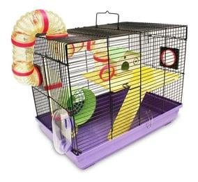 jaula para ratas con accesorios