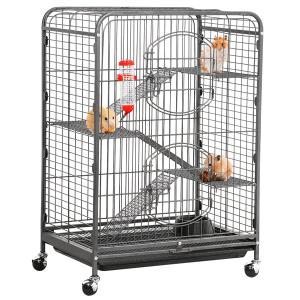 jaula para ratas con ratas