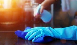 limpiar mesa