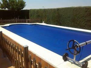 lona para piscina azul