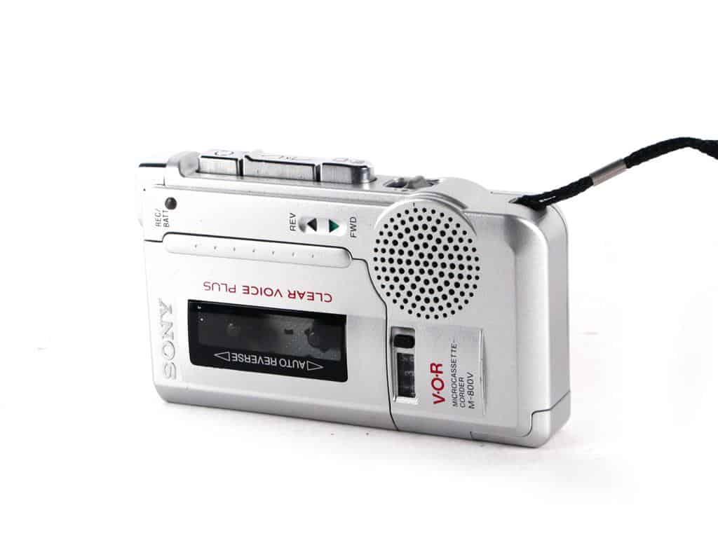 grabadora de voz con cinta