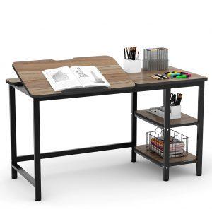 mesa de dibujo madera y hierro