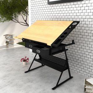 mesa de dibujo de madera