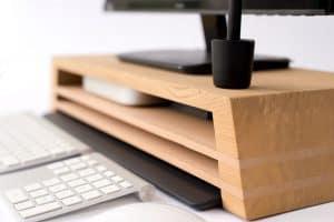soporte para pantalla de ordenador de cerca
