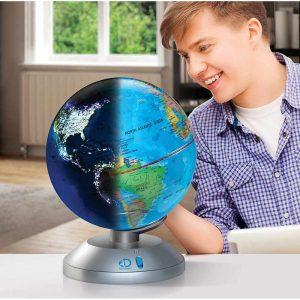 globo terráqueo con funcionalidades